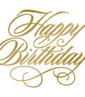 Couture Creations Anna Griffin Hotfoil Plate-Happy Birthday