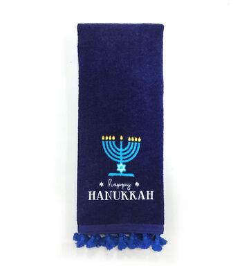 Hanukkah 16''x28'' Kitchen Towel-Happy Hanukkah