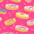 Blizzard Fleece Fabric-Donuts on Pink