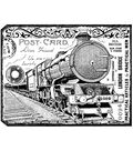 Crafty Individuals Unmounted Rubber Stamp 4.75\u0022X7\u0022 Pkg-Chunky Steam Train Tag