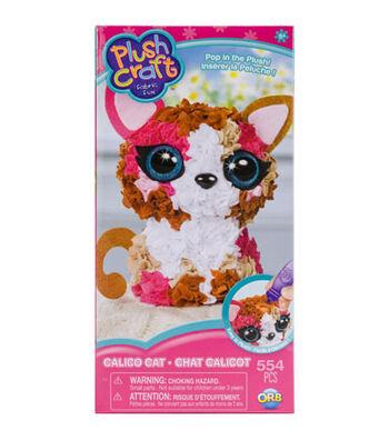 ORB Plush Craft Fabric Fun Kit-Calico Cat