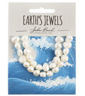 John Bead Earth\u0027s Jewels Freshwater Pearls Fancy Shape-White 9mm