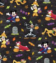 Disney Mickey & Friends Halloween Cotton Fabric -Fun, , hi-res