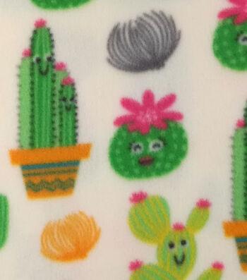 "Anti-Pill Fleece Fabric 59""-Cactus Party"