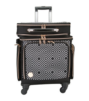 2-In-1 Crafter's 360 Rolling Bag W/Detachable Briefcase-Geometric