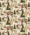 Christmas Cotton Fabric-Santa & Deer