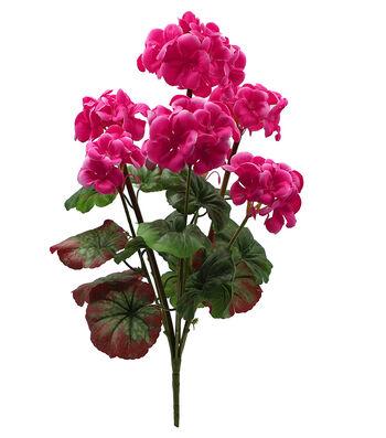 Fresh Picked Spring 18.5'' Geranium Bush-Magenta