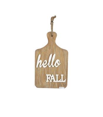 Simply Autumn Hello Fall Cutting Board Wall Decor