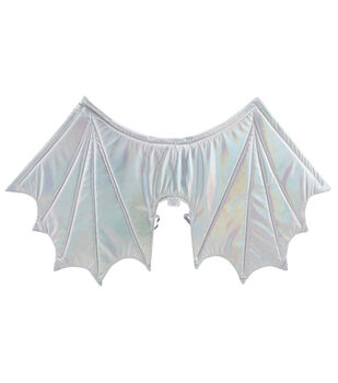 Maker's Halloween Adult Wings-Silver Holographic