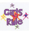 Bucilla My 1st Mini Counted Cross Stitch Kit Girls Rule