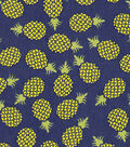 Snuggle Flannel Fabric -Pineapple Toss