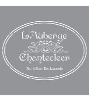DecoArt Americana Decor 12''x12'' Stencil-The French Inn, , hi-res