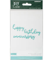Kaisercraft DIY Cuts 3 pk Decorative Dies- Birthday Sentiments, , hi-res