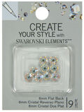 EK Success Create Your Style Swarovski Flatback 6mm Crystal Ab