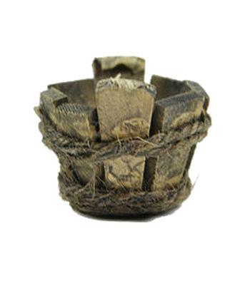 Fairy Garden Mini Wooden Bucket