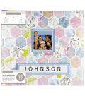 K&Company 12\u0027\u0027x12\u0027\u0027 Frame-A-Name Scrapbook-Marbled Hexagon