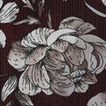 Silky Chiffon Fabric-Sketchy Floral on Burgundy