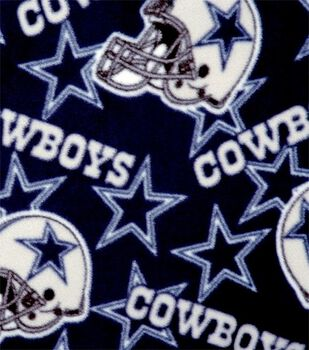Dallas Cowboys Fleece Fabric -Tossed