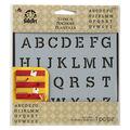 FolkArt 6\u0022x6\u0022 Alphabet Painting Stencil-Serif