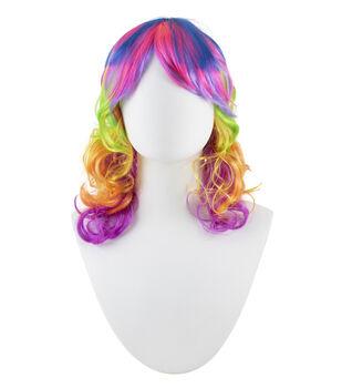 Maker's Halloween Adult Wig-Rainbow