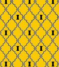 University of Iowa Hawkeyes Cotton Fabric -Trellis Logo
