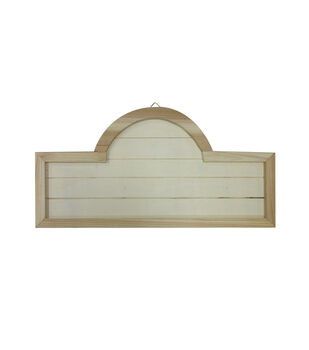 Unfinished 20X10 Wood Address Rectangle with Hump
