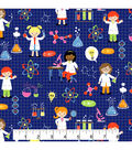 Novelty Cotton Fabric 44\u0022-Girl Scientists