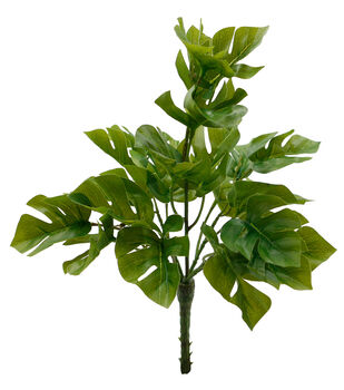 Fresh Picked Spring 11'' Split Philodendron Leaf Bush
