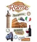 Paper House 4.5\u0027\u0027x8.5\u0027\u0027 3D Stickers-Discover Rome
