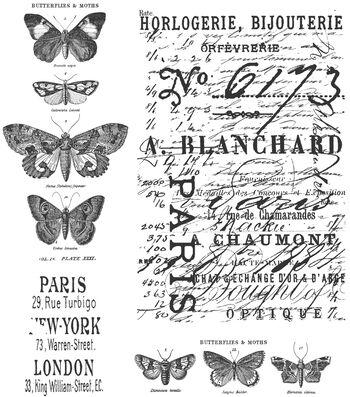 Tim Holtz Cling Rubber Stamp Set-Papillon