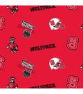 North Carolina State Wolfpack Fleece Fabric 58\u0022-All Over