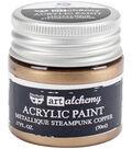 Prima Marketing Art Alchemy Acrylic Paint-Metallique Steampunk Copper