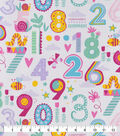 Snuggle Flannel Fabric-Patterned Numbers