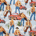 Novelty Cotton Fabric-Wranglers