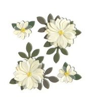 Jolee's Boutique Themed Stickers-Vanilla Flowers, , hi-res