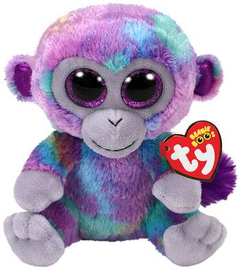 TY Beanie Boo Multi Colored Monkey-Zuri