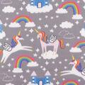 Blizzard Fleece Fabric-Rainbow Unicorns & Castles