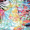 Fast Fashion Burnout Spandex Fabric-Geranium Paradise