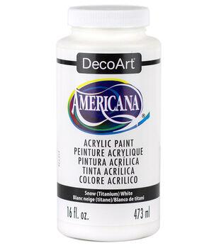 DecoArt Americana 16 fl. oz. Acrylic Paint-Snow White