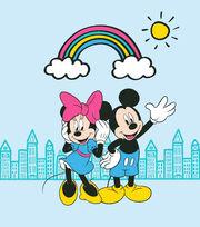 Disney Minnie & Mickey No Sew Fleece Throw-Rainbow, , hi-res