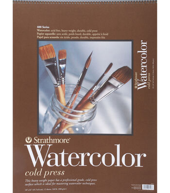 "Strathmore Cold Press Watercolor Paper Pad 18""X24"""