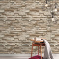 York Wallcoverings Wallpaper-Grey/Brown Stacked Stone