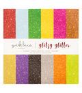 DCWV 12\u0022x12\u0022 Glitzy Glitter Stack