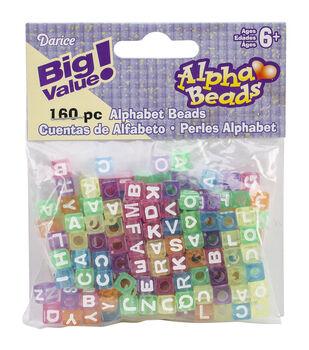 Big Value Plastic Alpha Beads Multi Color