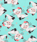 Anti-Pill Fleece Fabric 61\u0022-Pretty Kitty