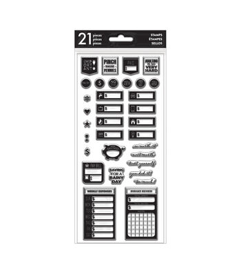 The Happy Planner 21 pk Clear Stamps-Budget