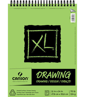 Canson XL 11''x14'' 60 Sheets Top Bound Drawing Pad