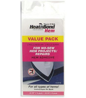 HeatnBond Hem Iron-On Adhesive-2 Sizes-4/Pkg