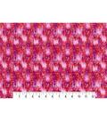 Modern Premium Cotton Print Fabric 43\u0027\u0027-Pink & Metallic Texture