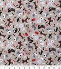 Novelty Cotton Fabric -Whimsical Mixed Dog Theme